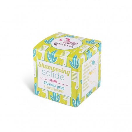 Lamazuna - Shampoing Solide - Cheveux Gras - Litsée Citronnée - Vegan, Bio & Zéro Déchet - Select Store Cosmétiques Vegans