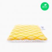 Petit Carré Français - Lingette Multi Usage - Coton Bio - Motif Coloré - Eco-Responsable & Zéro Déchet - Cosmétiques Vegans