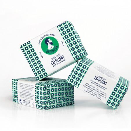Le Baigneur - Savon solide pour homme - Exfoliant - Vegan, Bio & Zéro déchet - Select Store Cosmétiques Vegans