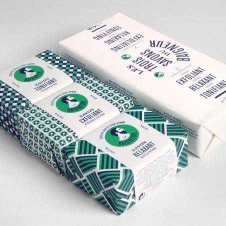 Le Baigneur -Coffret pour homme - Savon solide Vegan et Bio - Idée Cadeaux - Select Store Cosmétiques Vegans