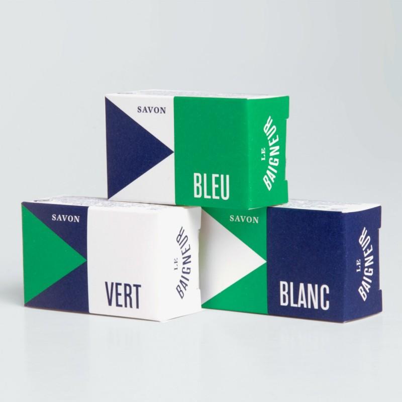 Le Baigneur - Coffret pour Homme - 3 Savons Solides - Amuse Douche - Vegan, Bio - Select Store Cosmétiques Vegans