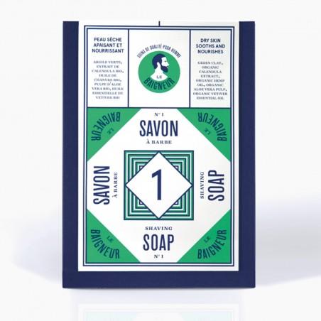 Le Baigneur - Savon à Barbe Solide pour homme - Vegan, Bio et Fabriqué en France - Select Store Cosmétiques Vegans