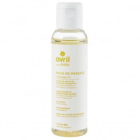 Avril - Huile de Massage bébé - Sésame & Tournesol - Naturel, Vegan & Bio - Select Store Cosmétiques Vegans