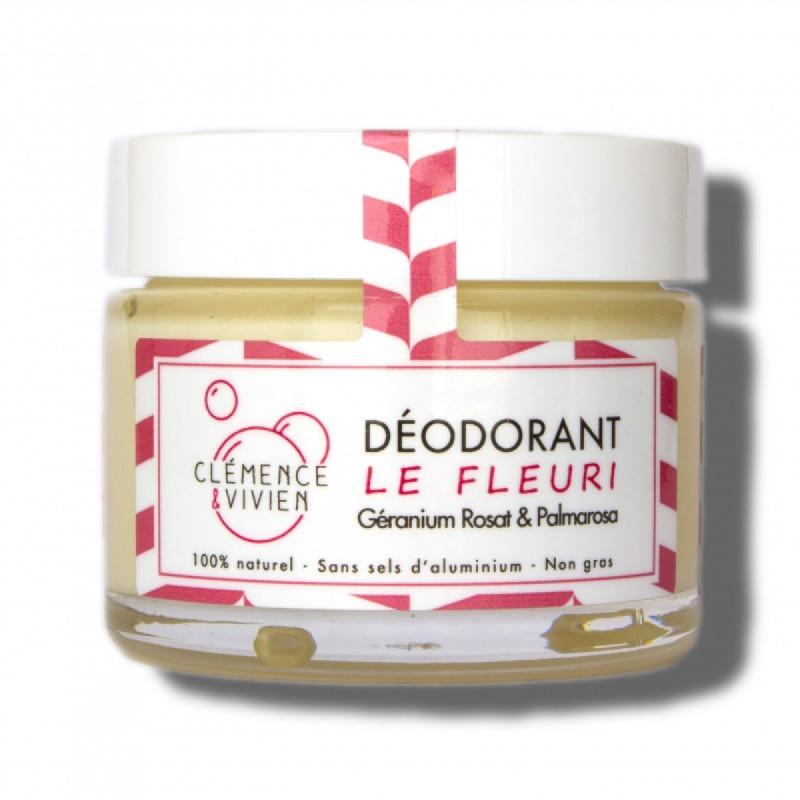 Clémence & Vivien - Déodorant crème Le Fleuri - Vegan, Naturel & Clean - Select Store Cosmétiques Vegans