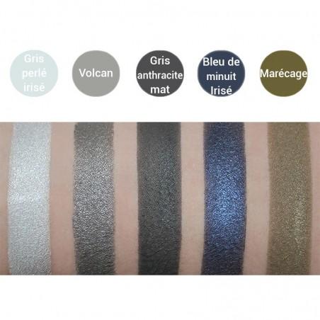 Avril - Fard à Paupières Gris Perle Irisé - Maquillage Bio et Végan - Select Store Cosmétiques Vegans