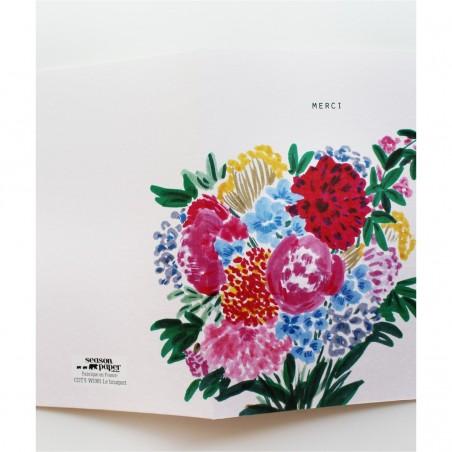 Papeterie Française Season paper - Carte Merci - Lifestyle & Fabriqué en France - Select Store Cosmétique Vegans