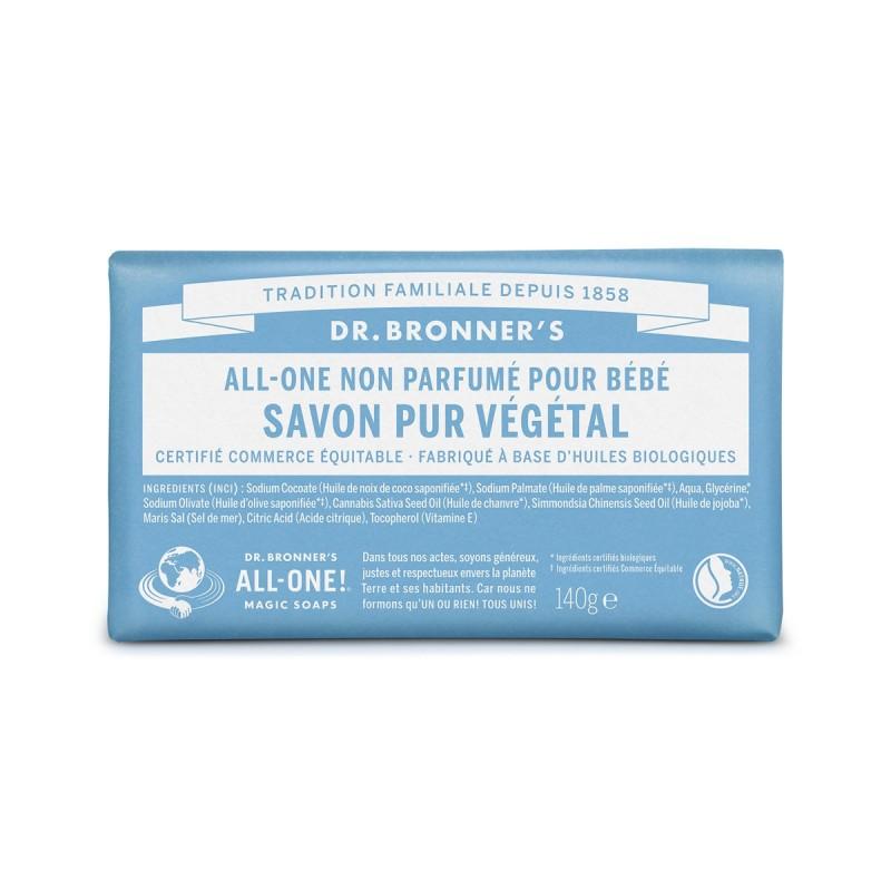 Dr Bronner's - Savon solide Naturel, Bio & Vegan - Select Store Cosmétiques Vegans