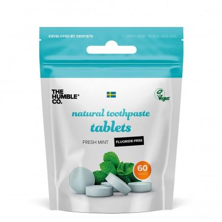 The Humble - Pastille de dentifrice solide à la menthe sans fluor - Zéro déchet & Vegan - Select store Cosmétiques Vegans