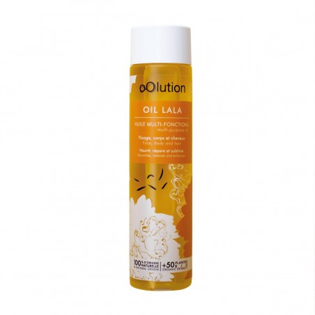 oOlution - Huile Multi-Usage Visage, Corps & Cheveux - Oil Lala - Vegan, naturel & bio - Select store éthique Cosmétiques Vegans