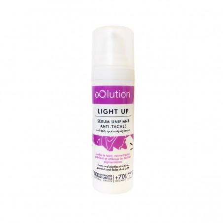 oOlution - Sérum unifiant anti tâches bio - Light Up - Vegan, naturel & bio - Select store éthique Cosmétiques Vegans