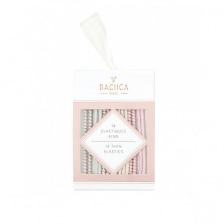 Bachca - Elastiques pour cheveux fins - Couleurs pastels - Accessoire cheveux - Select Store éthique Cosmétiques Vegans