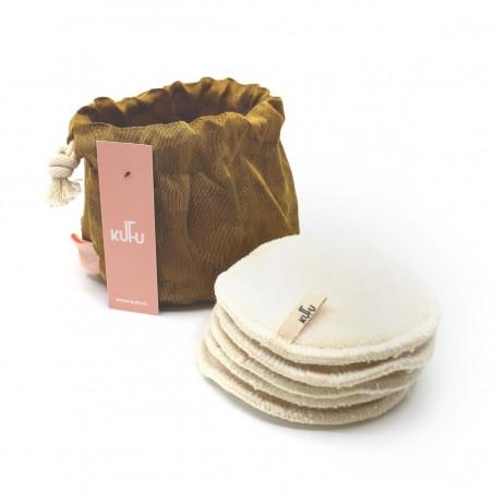 Kufu - Bourse de 5 cotons bio lavables - Louise - Vegan, Bio & Zéro déchet - Select store éthique Cosmétiques Vegans