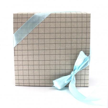 Boîte coffret cadeau - Carreaux Vert d'eau Cosmétiques Vegans - 1