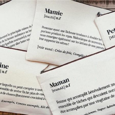 Hindbag - Trousse en coton bio - Spécial Grande Soeur - Idée Cadeau - Select store éthique Cosmétiques Vegan