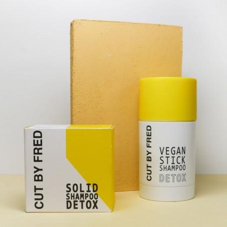 Cut by Fred - Shampoing Stick rechargeable - Detox - Vegan - Select store éthique Cosmétiques Vegans