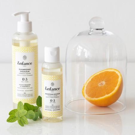 Enfance Paris -Shampoing liquide bio Douceur - Bébé & Famille - Vegan & Bio - Select store éthique Cosmétiques Vegans