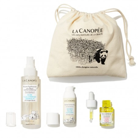 La Canopée - Coffret Soin Visage Spécial Peau Sèche - Vegan & 100% Naturelle - Select store Cosmétiques Vegans