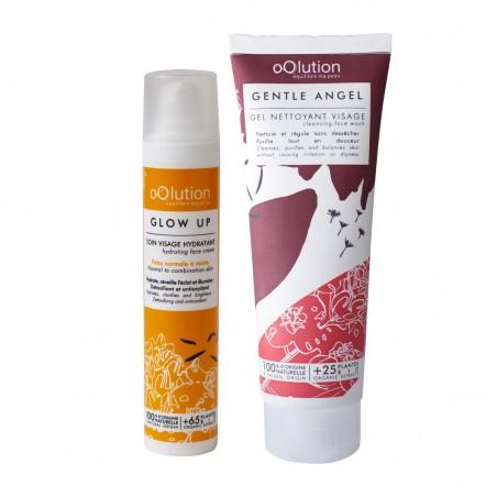 Oolution - Coffret Duo Soins Visage Bio - Soin nettoyant et hydratant vegan, naturel & bio - Select store Cosmétiques Vegans