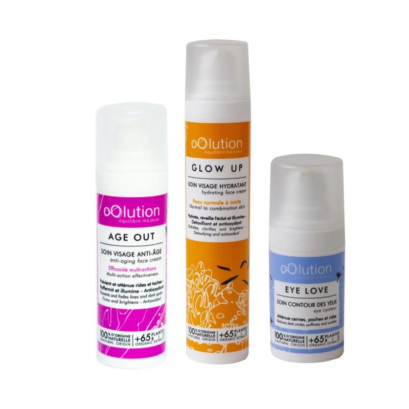 oOlution - Coffret Trio Soins Visage Bio Peau Mature - Cosmétique vegan, naturel & bio - Select store Cosmétiques Vegans