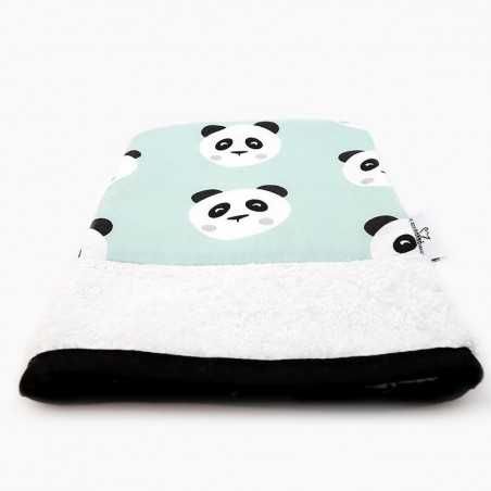 Petit Carré Français - Gant de toilette en coton Bio - Motif Panda - Accessoire Salle de Bain - Select Store Cosmétiques Vegans