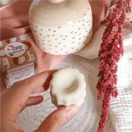 Lamazuna - Shampoing Solide - Cheveux Secs - Vanille & Coco - Vegan, Bio & Zéro Déchet - Select Store Cosmétiques Vegans