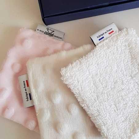 Coffret 3 lingettes lavables - Eco-responsable & Zéro déchet - Idée Cadeau - Rose - Cosmétiques Vegans