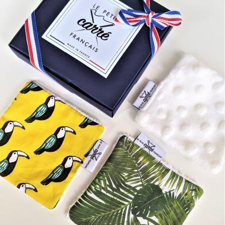 Pack 3 lingettes lavables - Eco-responsable & Zéro déchet - Cadeaux - Made in France - Cosmétiques Vegans