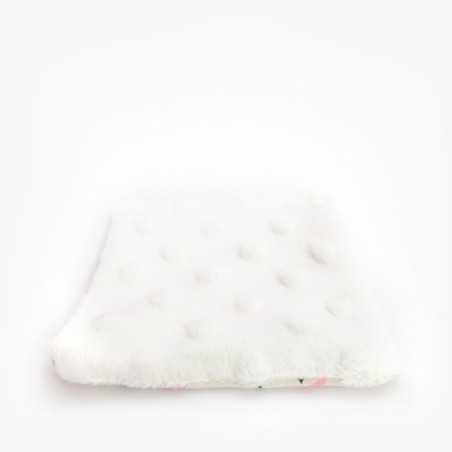 Petit Carré Français - Lingette en tissu Lavable - Démaquillage à l'eau - Flamant Rose - Zéro Déchet & Eco-responsable