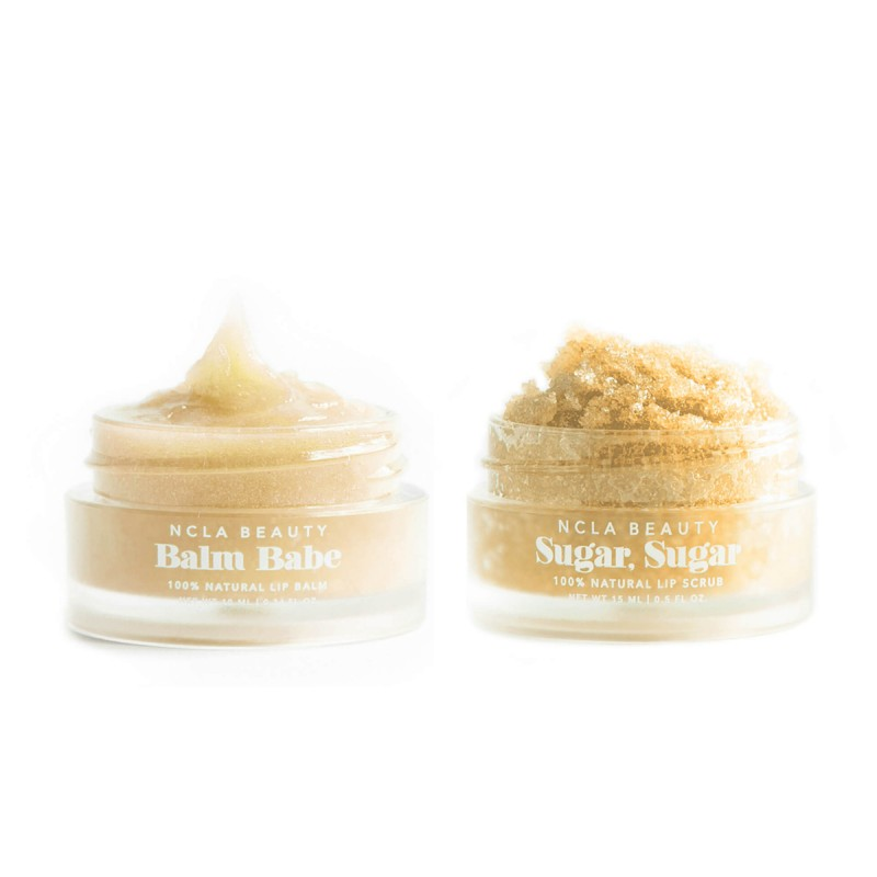 NCLA - Duo soin des lèvres Vegan & Naturel - Gommage & Baume - Cookie aux Amandes - Select store éthique Cosmétiques Vegans