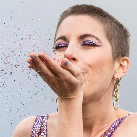 Sisi la Paillette - Paillettes biodégradables vegans - Pluie Violette - Zéro déchet - Select store éthique Cosmétiques Vegans