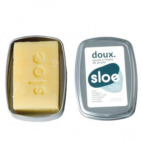 Sloe Nature - Savon solide doux - Boîte et recharge - Zéro déchet & Made in France - Select store éthique Cosmétiques Vegans