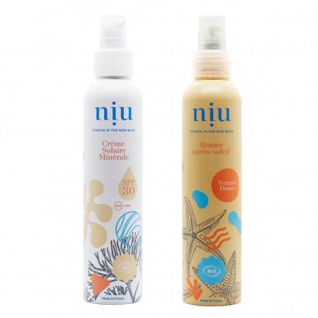 NIU & You - Duo Crème solaire SPF 30 et après - solaire Vegan, Naturelle & Bio - Select store éthique Cosmétiques Vegans