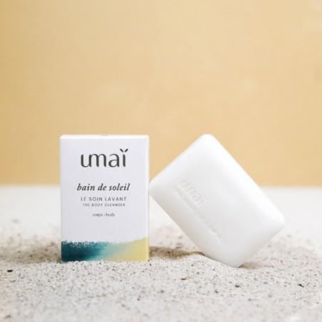 UMAI - Soin lavant solide Visage & Corps - Bain de soleil - Naturel & Zéro déchet - Select store éthique Cosmétiques Vegans